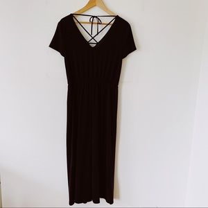 MAURICES Size Small Black delicately Designed Fall jumpsuit